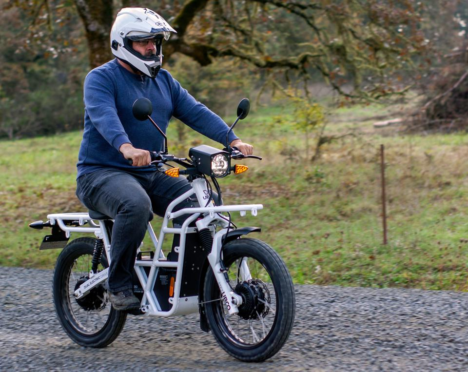 UBCO's primary product is the 2x2, a slick and street legal two-wheel-drive electric motorcycle that registers as a moped in most places.