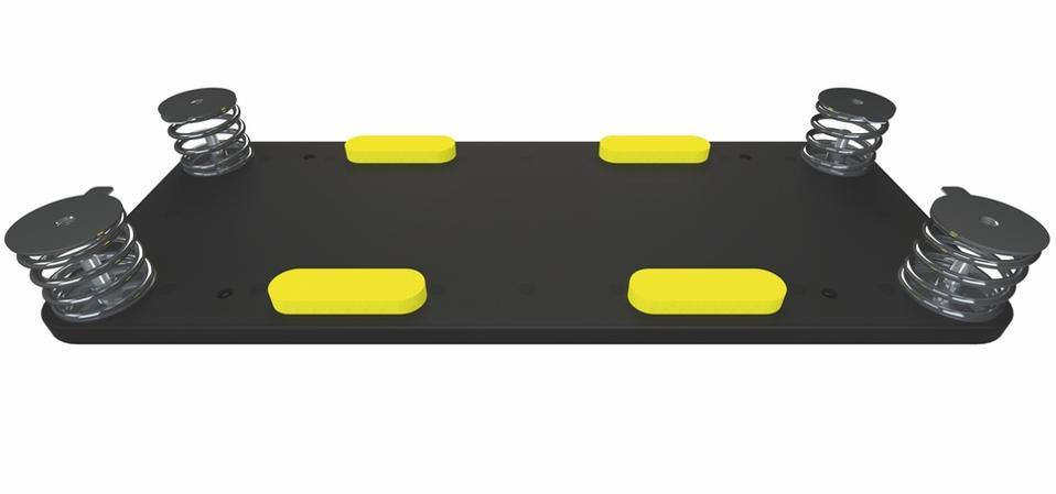 Baseplate of Q Acoustics Concept 300 speaker cabinet