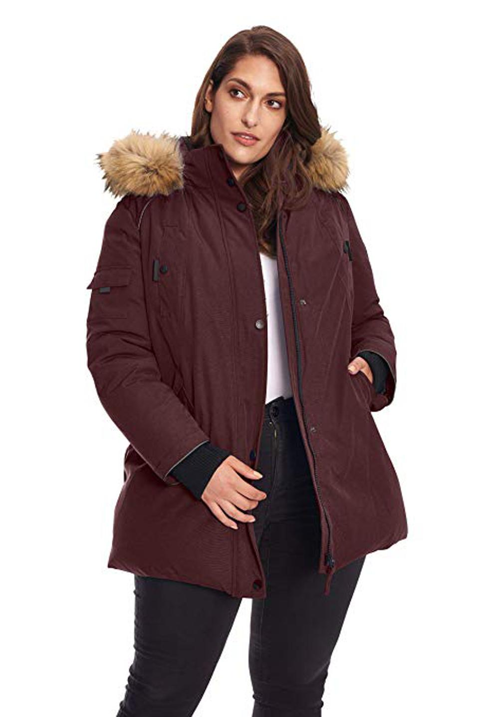 Plus Size Vegan Down Parka