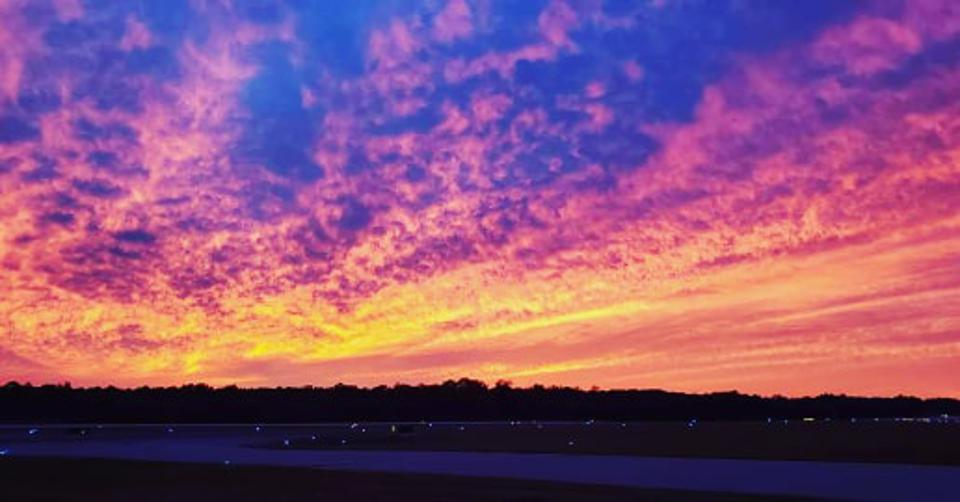 Why The Sunset Was So Stunning Ahead Of Tropical Storm Nestor