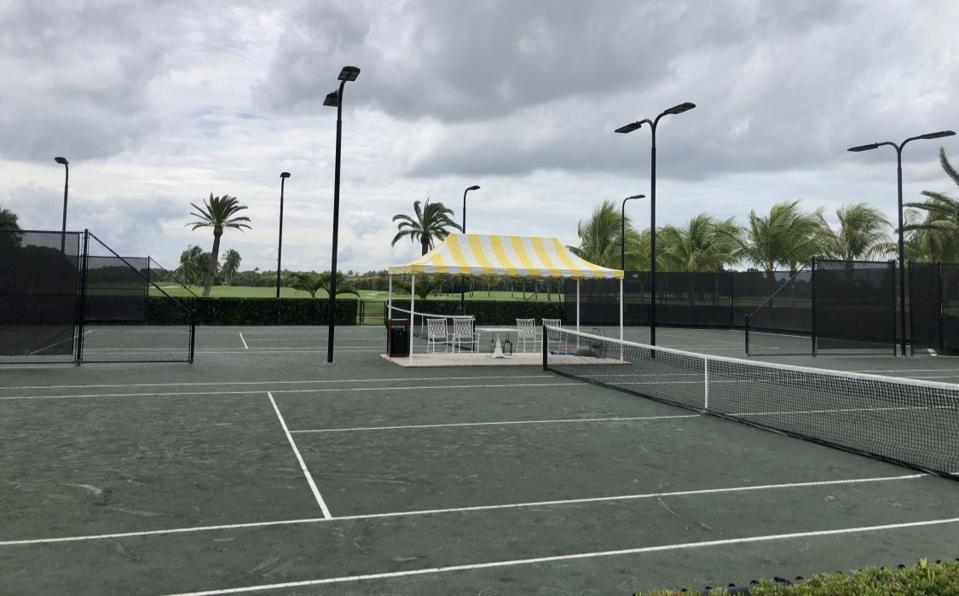 tennis court Trump