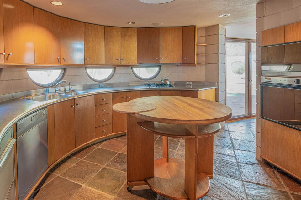 Wright circular kitchen