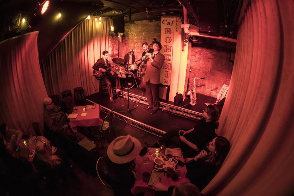Opening night at Cafe Bohemia