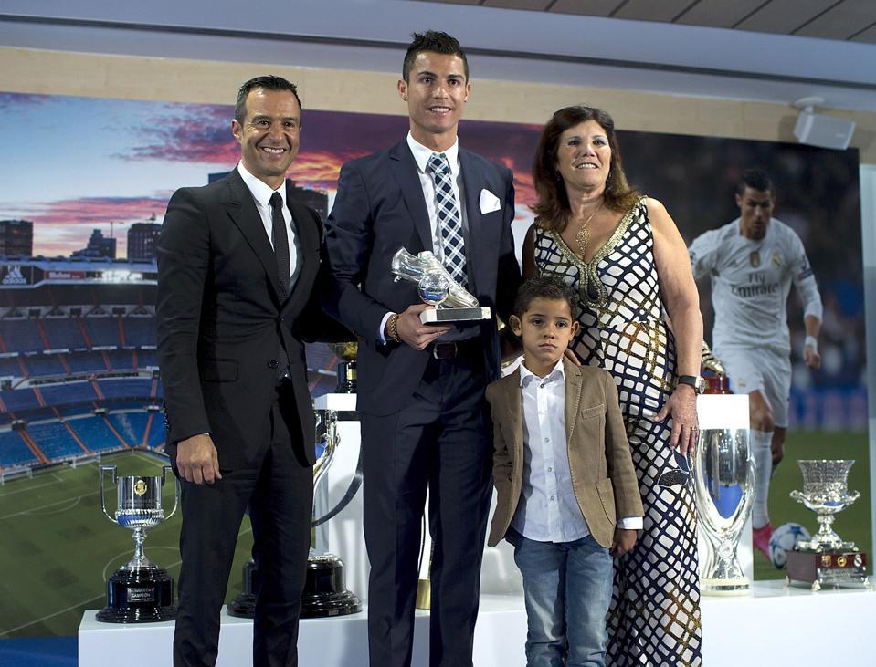 Cristiano Ronaldo Celebrates His Record Goal Scored For Real Madrid
