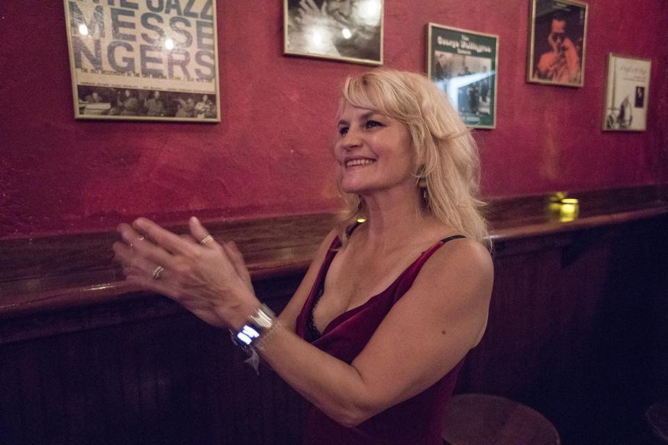 Christine Santelli on opening night