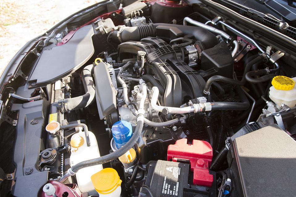 The engine bay of the 2020 Subaru Legacy 2.5i Premium