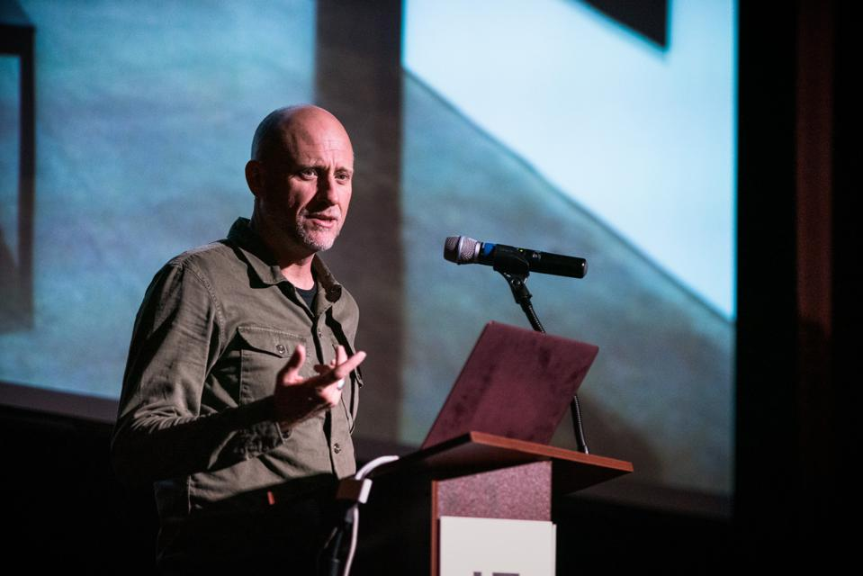Artist Trevor Paglen gives the keynote address at the FotoFocus symposium AutoUpdate: Photography in the Electronic Age.
