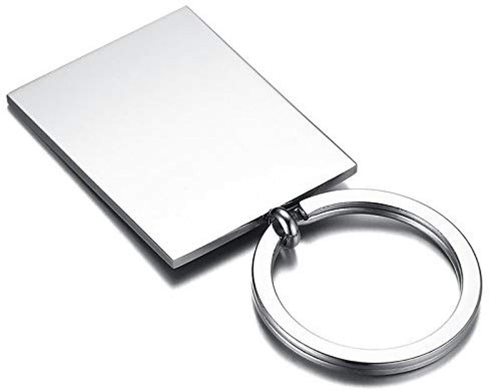 Stainless Steel Engraved Keychain