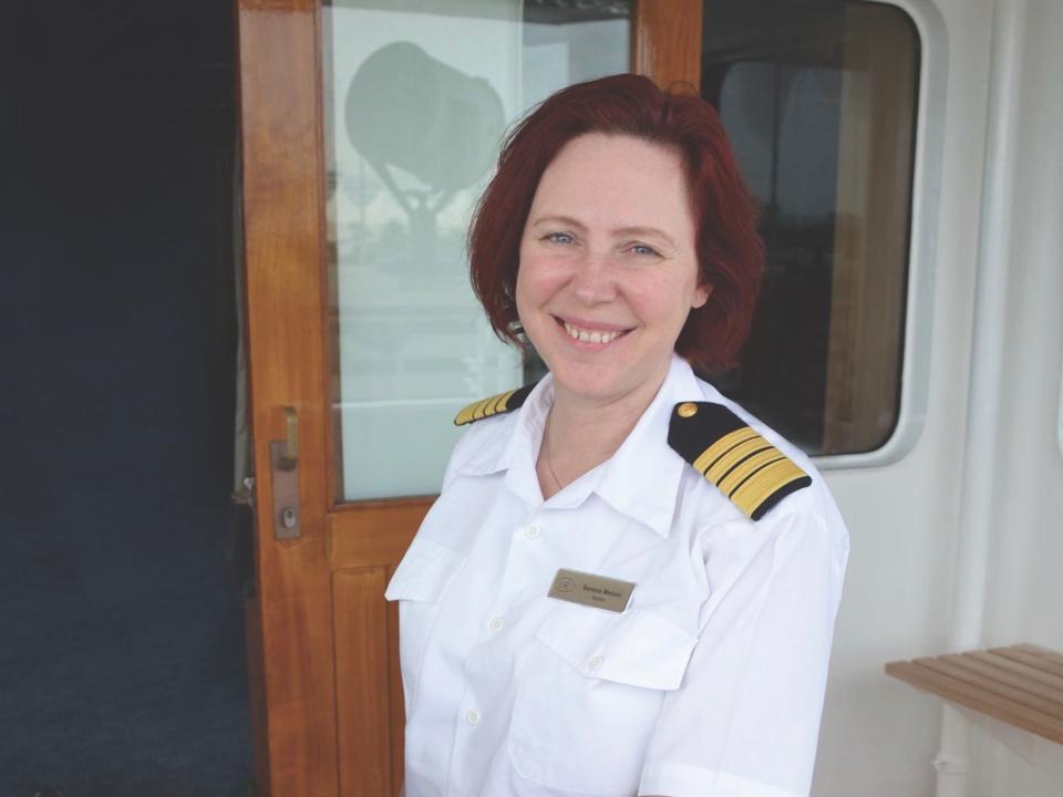 woman cruise ship captain