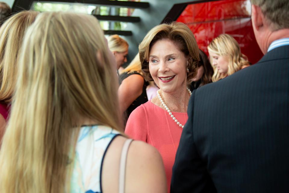 First Lady Laura Bush at The Winspear Opera House: 10th Annual First Sight Presentation and Luncheon by Dolce&Gabbana