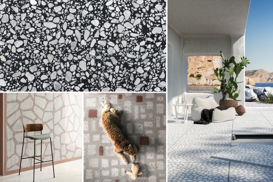 Speckled tiles