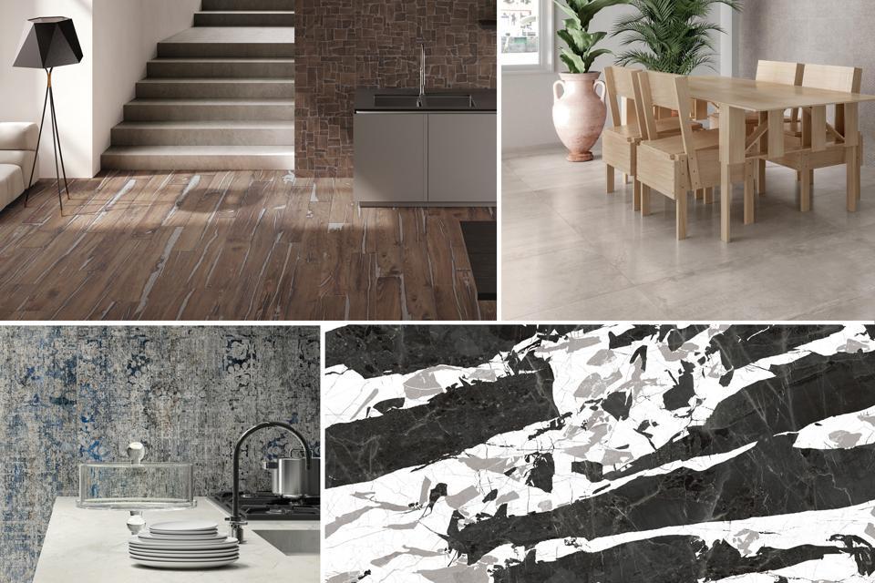 Blending materials into tile looks