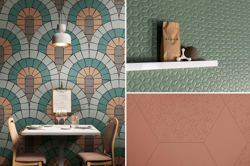 Terracotta and sage tiles