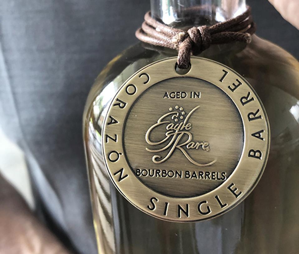 The first bottle from Buffalo Trace's first Boomerang customer, David Moritz.