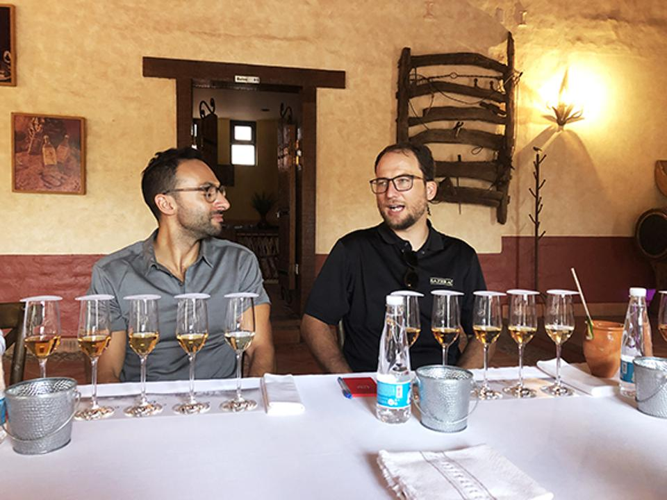 Moritz and Beau Beckman talking tequila tequila.