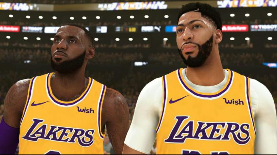NBA 2K20 LeBron James and Anthony Davis