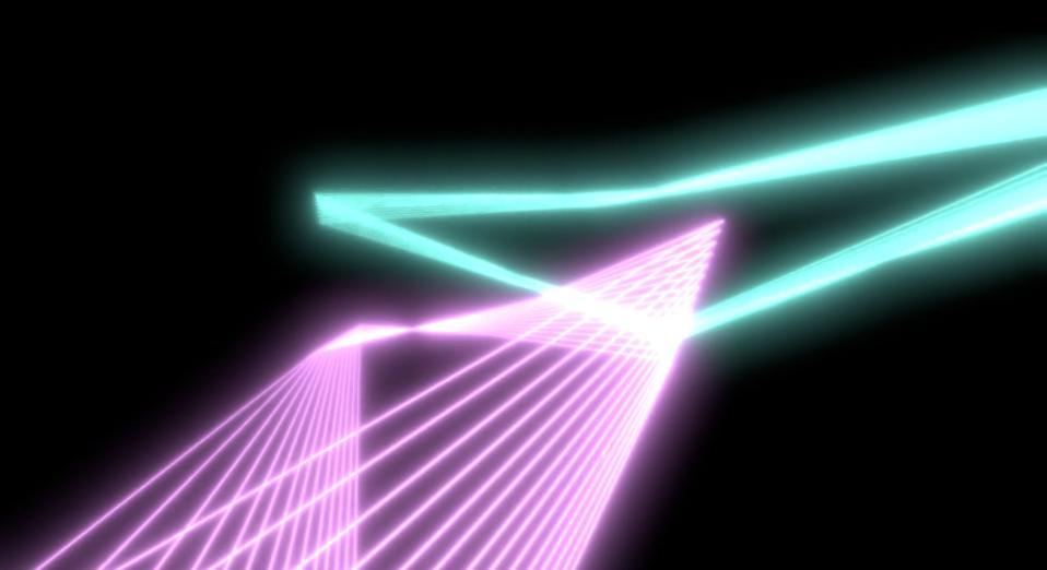 Screensavers VR has a neon mode via FLOAT LAND
