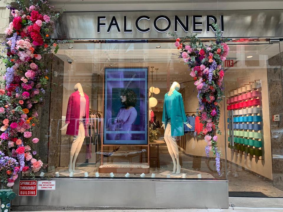 La nueva tienda Falconeri en SoHo, Nueva York.