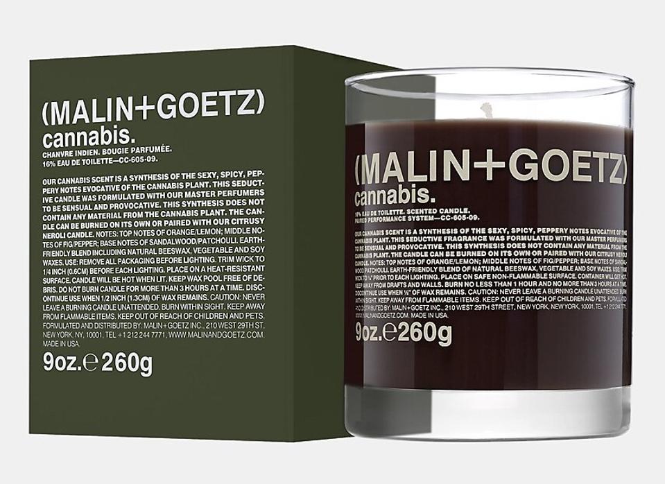 Malin + Goetz, luxury cannabis, cannabis candles