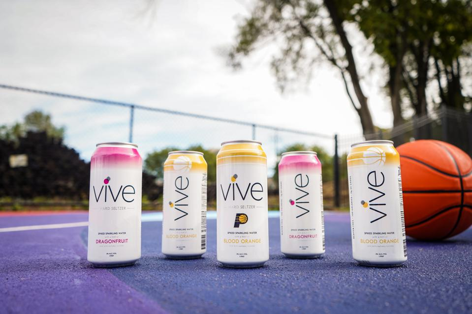 Cans of Vive hard seltzer