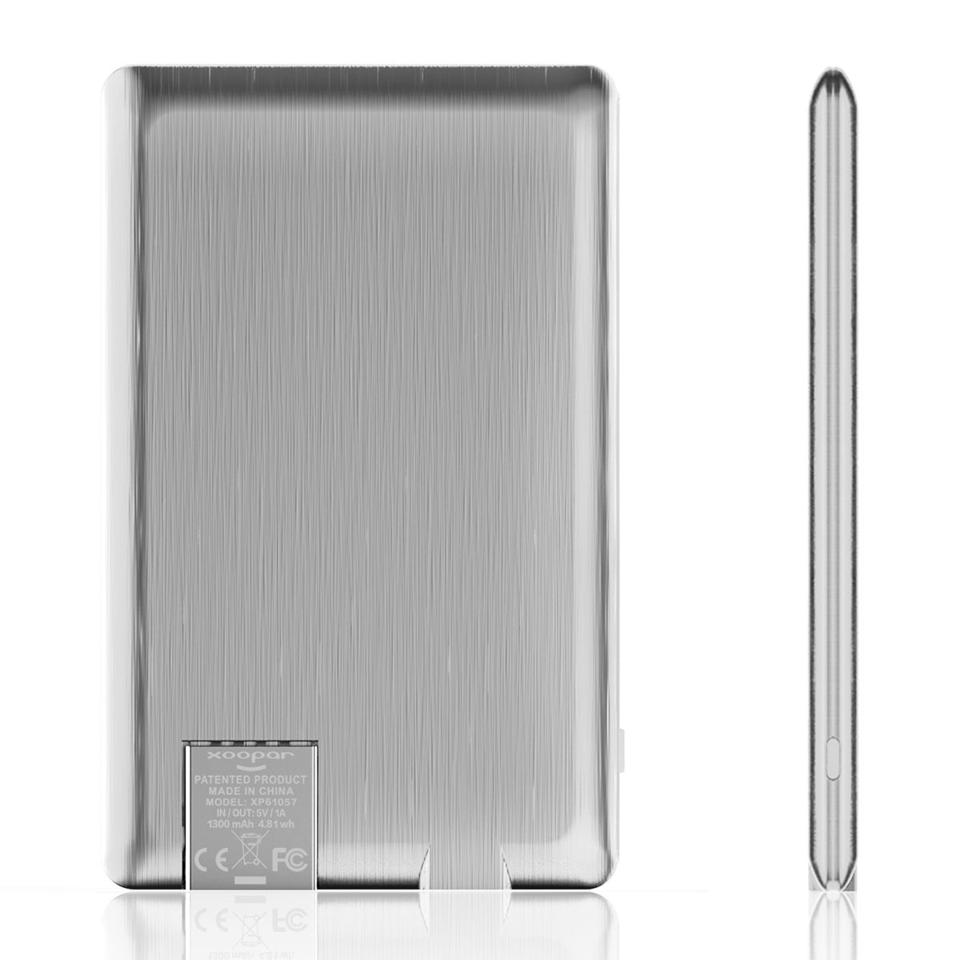 silver phone charger