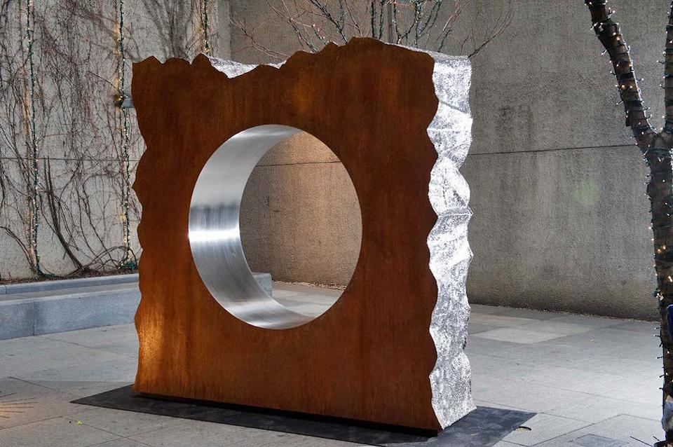 From Jonathan Prince's Liquid State series shown at Christie's Sculpture Park, New York in 2012
