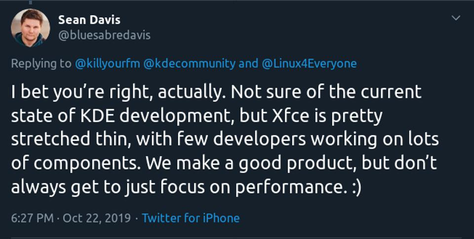 Xfce Core developer (and great human) Sean Davis
