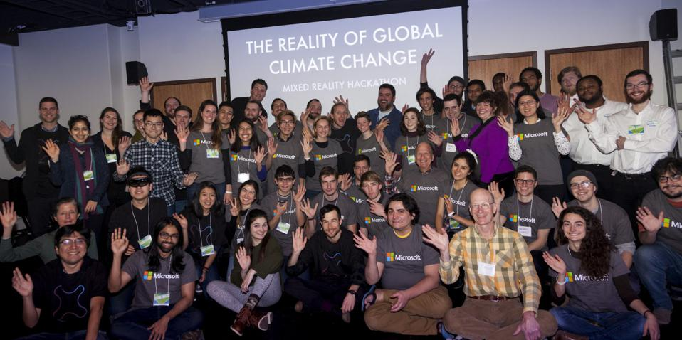 The Reality of Global Climate Change: A Mixed-Reality Hackathon
