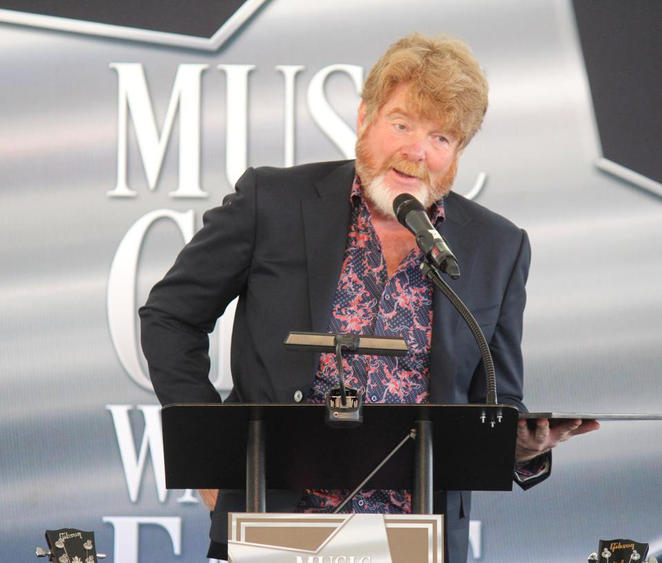 Mac McAnally at his induction to the Walk of Fame