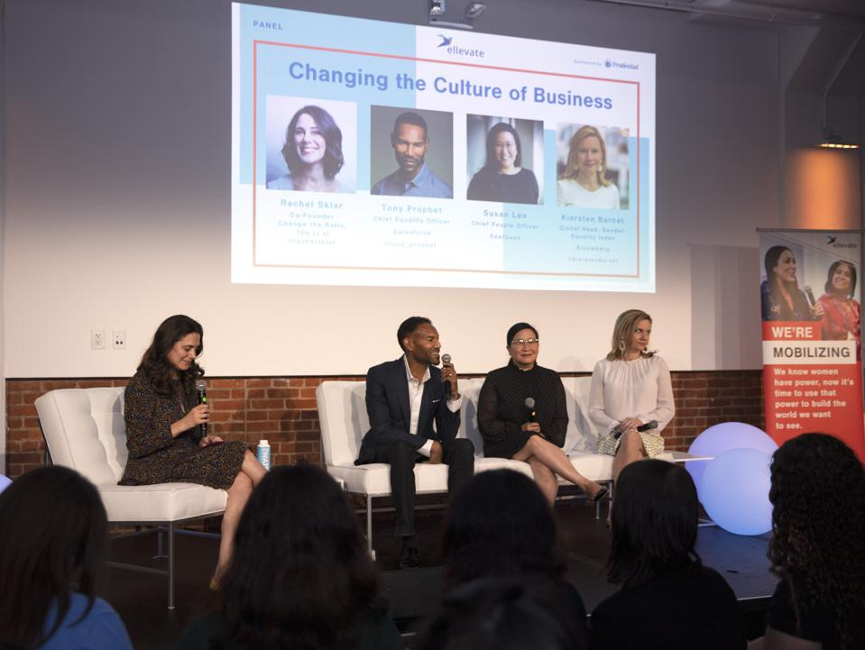 A panel at the Mobilize Women Summit 2019.