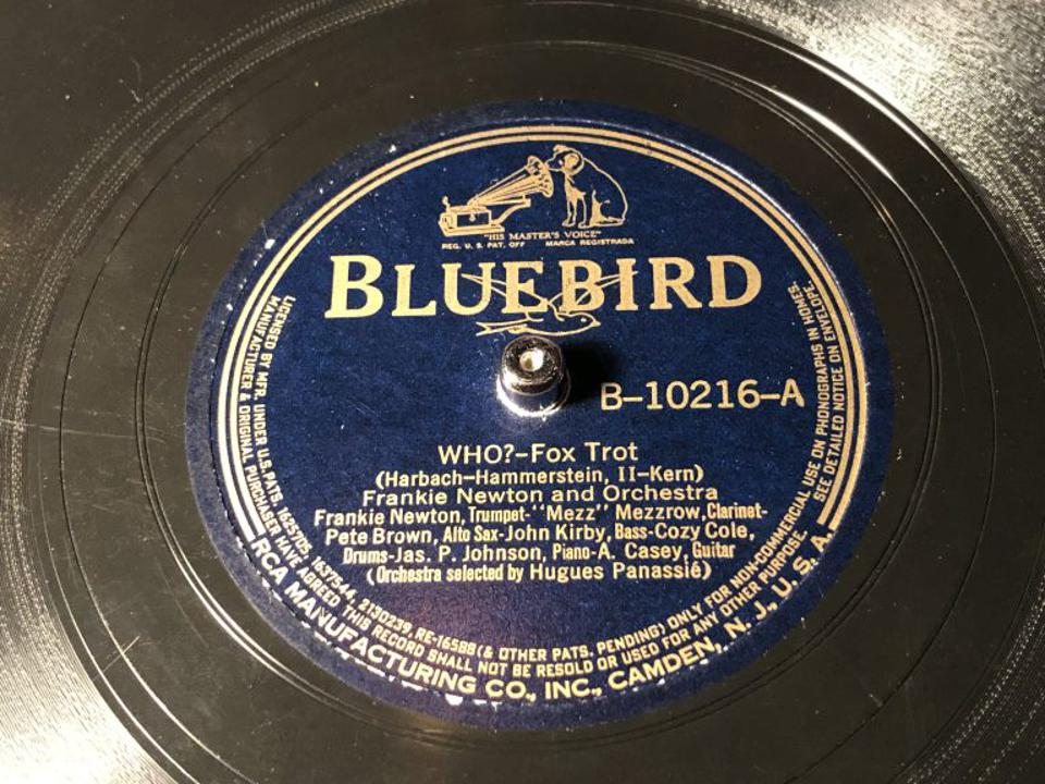 Frankie Newton and James P Johnson can be heard on 78rpm at the club.