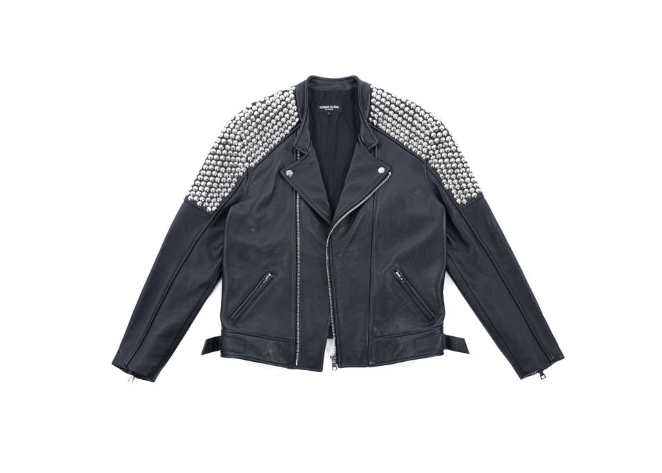 Studded Leather Motorcycle Jacket