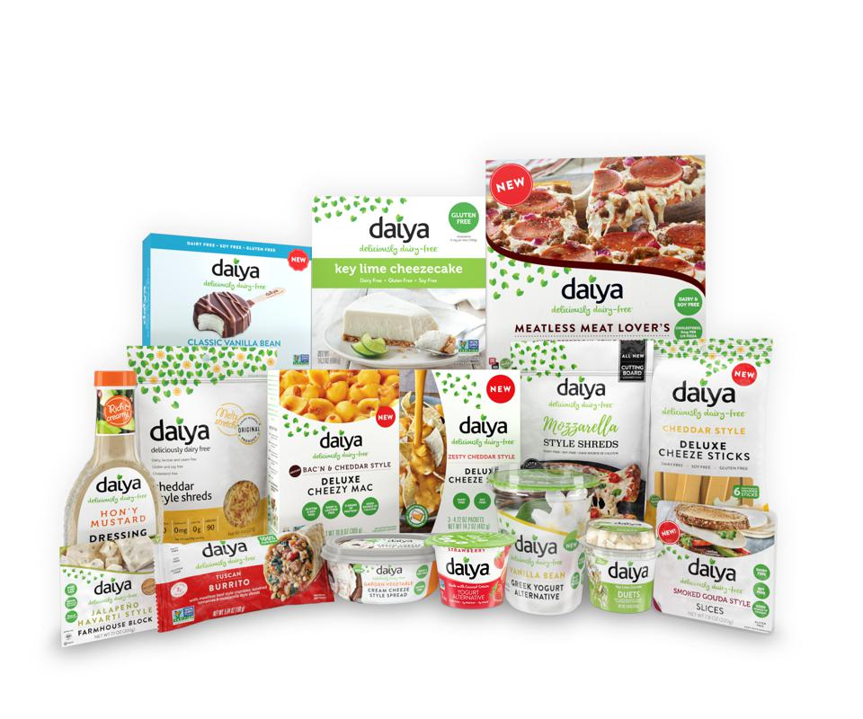 Daiya's family of plant-based dairy-free products