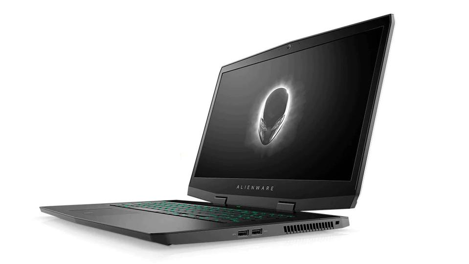 Dell Alienware M17 gaming laptop on a white background.