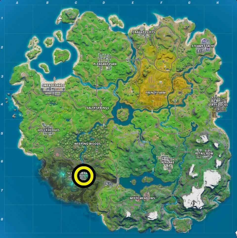 Slurpy Swamp Map