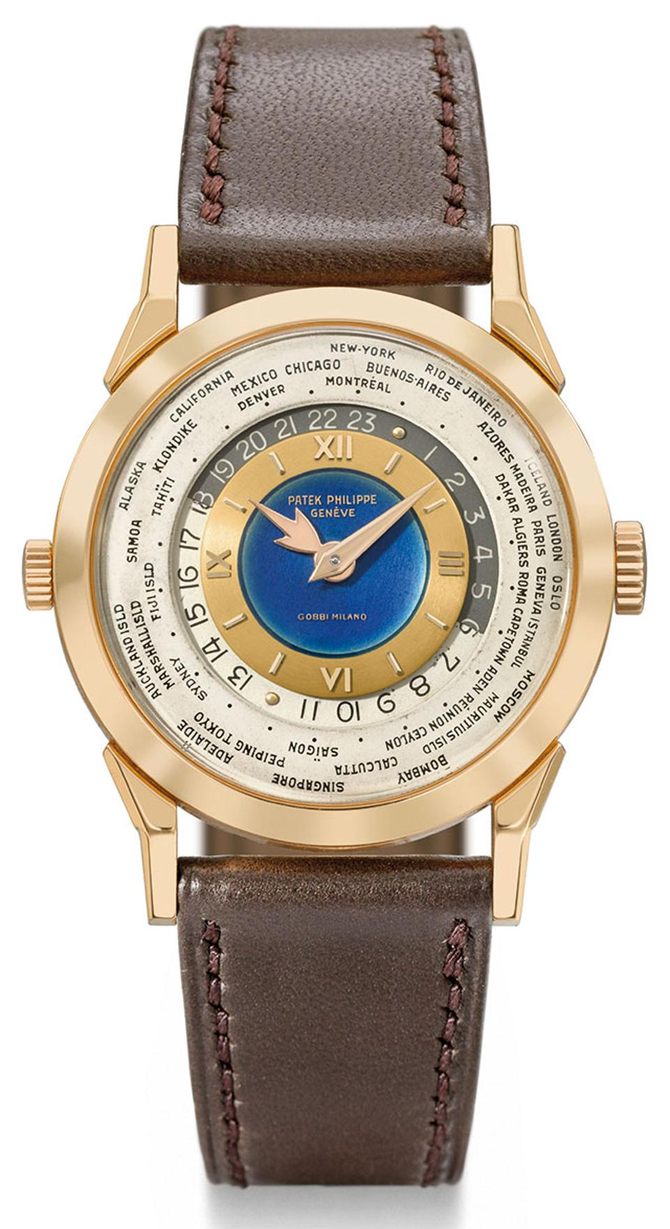 The Patek-Philippe Ref. 2523 world timer is being sold in Christie's November sale in Hong Kong for an estimated CHF 7-14-million.