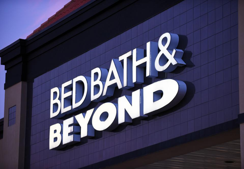 Bed Bath & Beyond pulled the pumpkins from store shelves after a Nyack, NY law firm received complaints about using them in a holiday display.