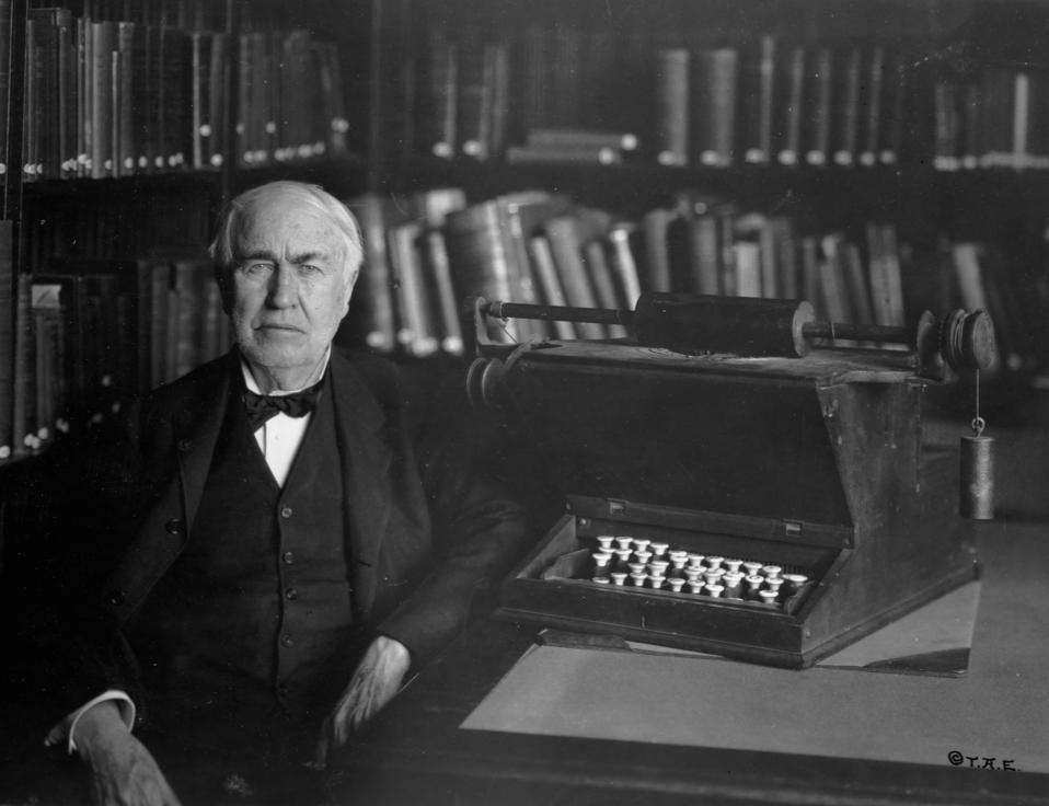 Thomas Edison and Typewrighting Machine