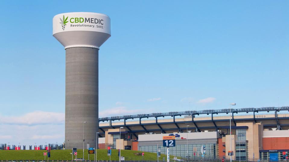 Gillette Stadium water tower