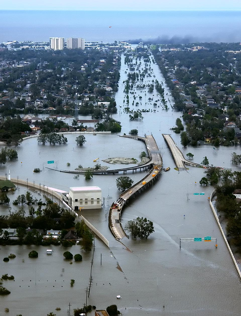 New Orleans during Hurricane Katrina