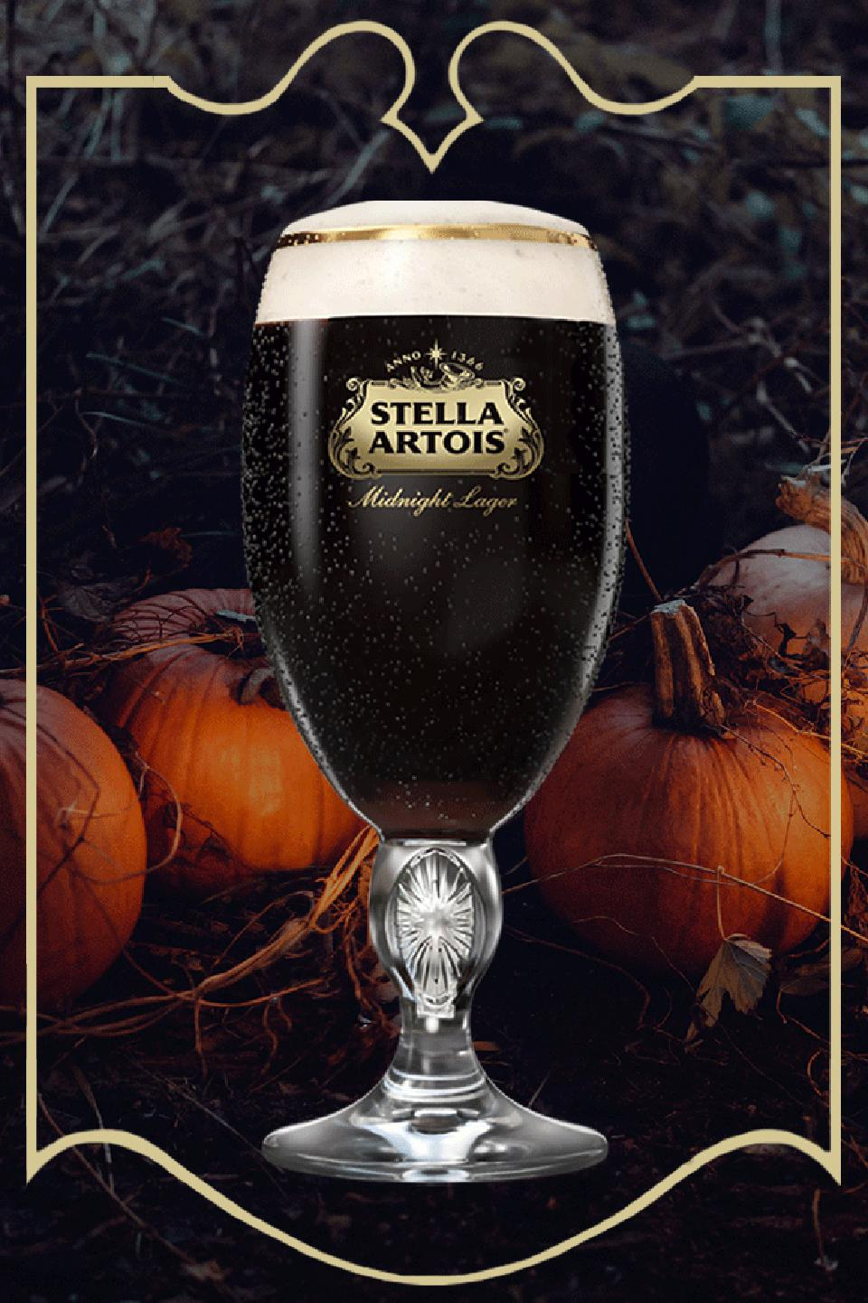 The new Midnight Lager from Stella Artois will be released on Halloween 2019.
