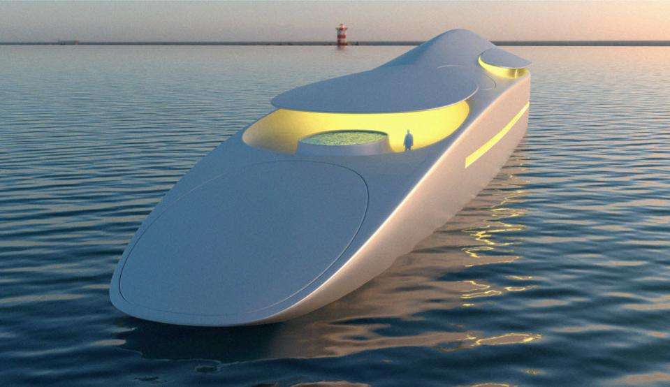 Invisible superyacht from Thierry Gaugain