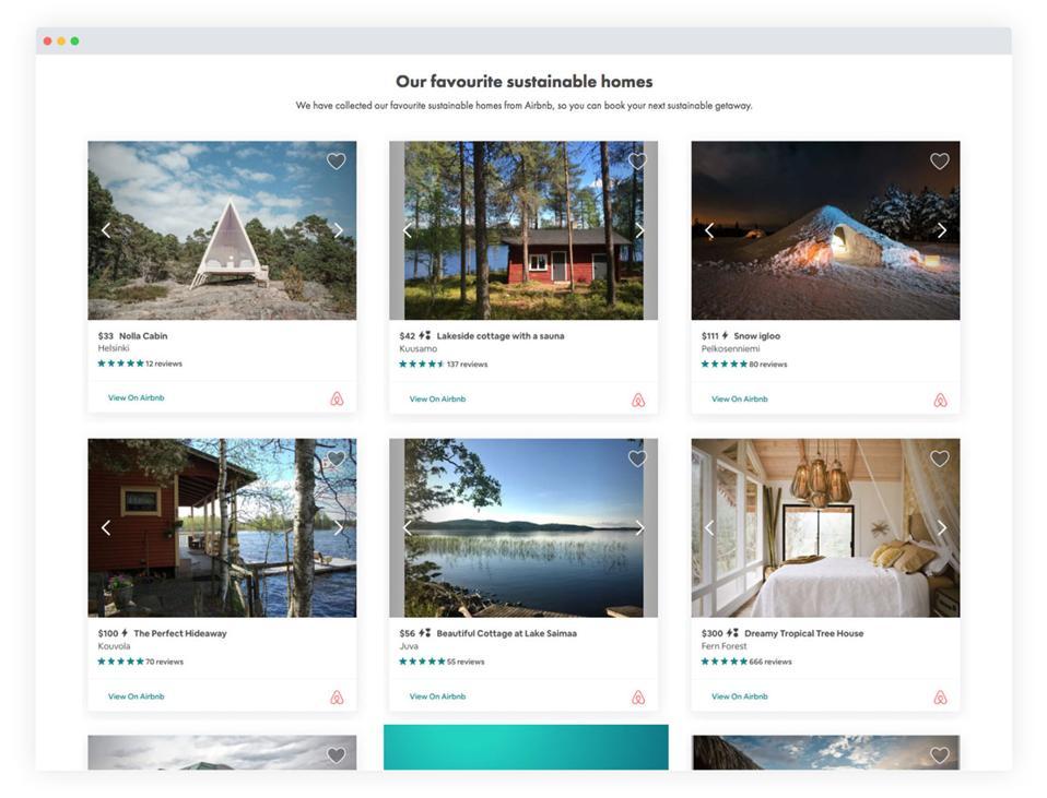 zerobnb screenshot sustainable homes lodging