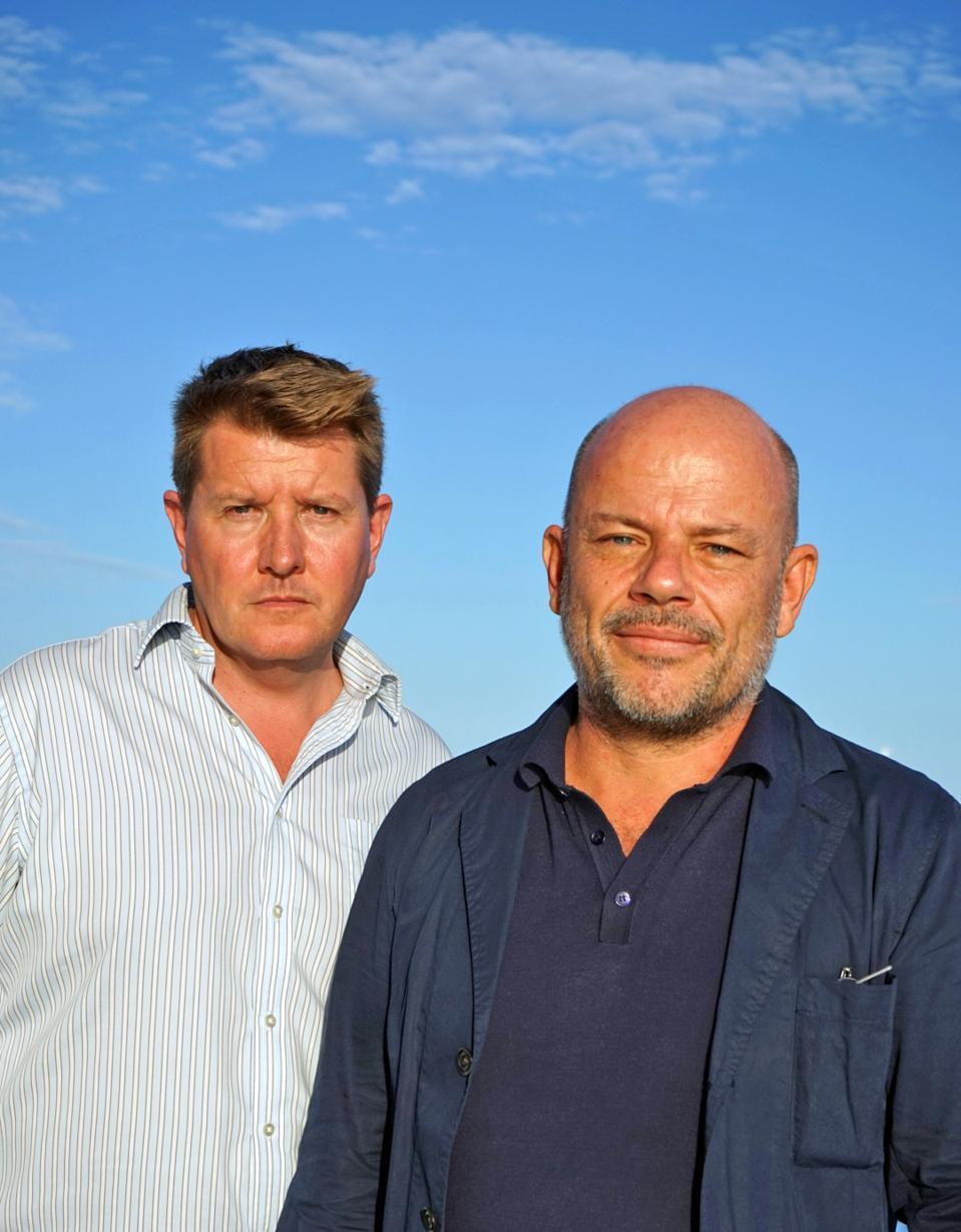 SuperYachtsMonaco Alex Banning (L) and designer Thierry Gaugain (R)