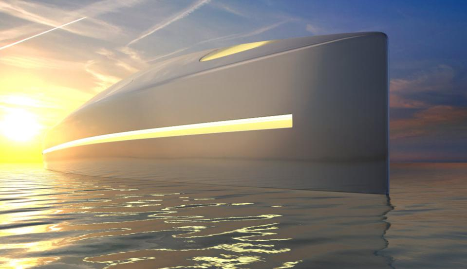 Exterior surface of Superyacht L