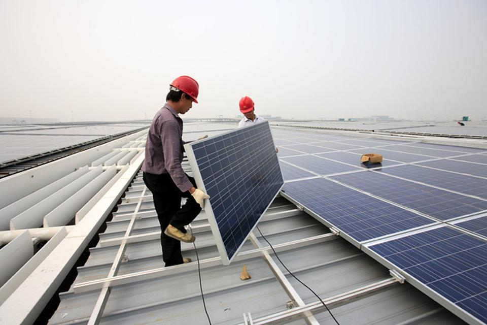 China solar installation