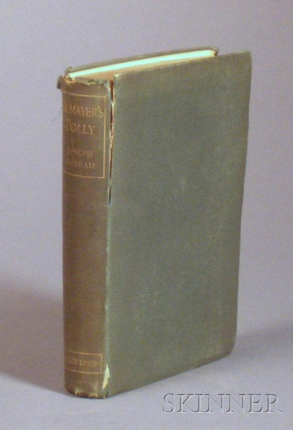 Autographed first edition of Joseph Conrad's ″Almayer's Folly″, damaged