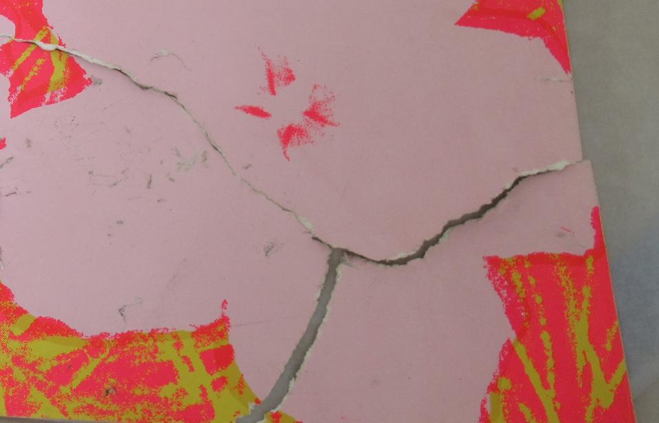 A torn Warhol print
