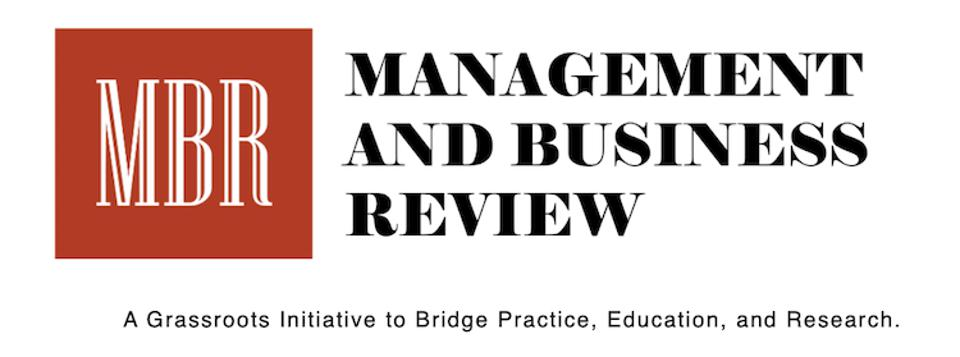 The logo for the new Management and Business Review