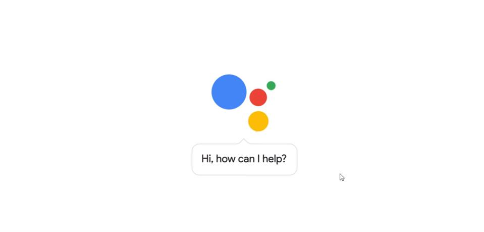 Google Assistant 'How can I help' logo